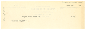Check from Crisis to Tuskegee Institute