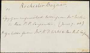 Letter from John Bishop Estlin, Bristol, [England], to Philip Pearsall Carpenter, 1855 June 7