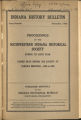 Indiana History Bulletin, volume 3 extra number 01--Proceedings of the Southwestern Indiana Historical Society during its sixth year; Papers read before the society at various meetings 1920-1925