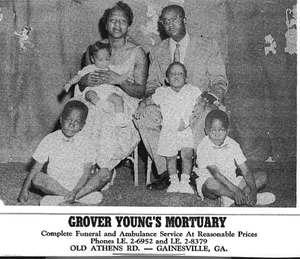 Grover Young & family Grover Young and family