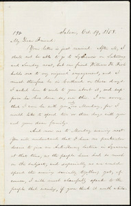 Letter from William Lloyd Garrison, Salem, [Ohio], to Samuel Joseph May, Oct. 19, 1858