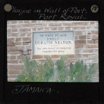 Plaque in Wall of Fort, Port Royal, Jamaica, ca.1875-ca.1940
