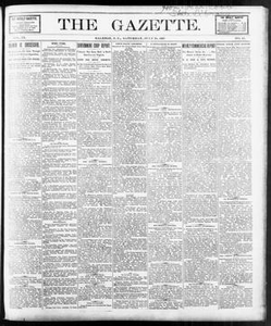 The Gazette. (Raleigh, N.C.), Vol. 9, No. 23, Ed. 1 Saturday, July 24, 1897 The Gazette The Weekly Gazette