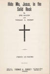 Hide Me, Jesus, in the Solid Rock! 1939