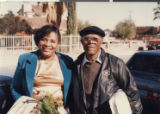 "Photograph of Gertrude ""Trudi"" Toston and her stepfather, Rev. Leo A. Johnson."