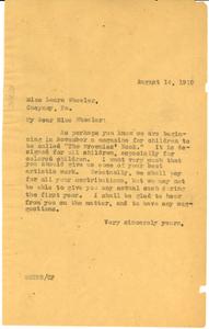 Letter from W. E. B. Du Bois to Laura Wheeler