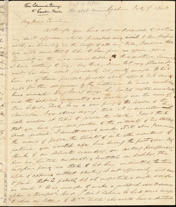Letter from Edmund Quincy, Dedham, [Mass.], to Caroline Weston, July 9, 1843