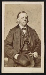 [Clergyman and abolitionist Henry Ward Beecher with hat]