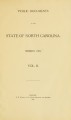 Public documents of the State of North Carolina [1905 v.2]