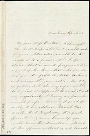 Letter to] My dear Miss Weston [manuscript
