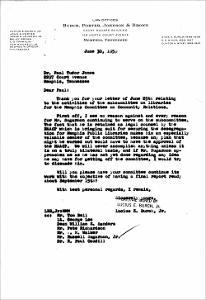 Letter from Lucius Burch, Jr. to Dr. Paul Tudor Jones