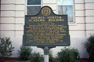 Holmes/Hunter Academic Building historical marker