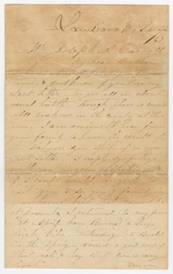Letter from Thomas M. Carroll to Joseph A. Carroll, September 22, 1867