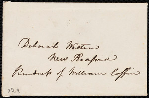 Letter from Maria Weston Chapman, 39 Summer Street, Boston, to Deborah Weston, Monday, Aug. 1, 1842