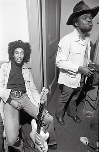 Bob Marley and the Wailers at Paul's Mall: Marley backstage with Aston Barrett