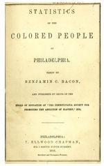 Statistics of the colored people of Philadelphia