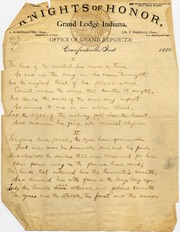 """Manuscript of Poem """"The Harp of the Minstrel"""" by James Whitcomb Riley"""