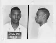 Mississippi State Sovereignty Commission photograph of William E. Harbour following his arrest for his participation in the Freedom Rides, Jackson, Mississippi, 1961 May 28