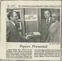 """""""Papers Presented"""": presentation of the Elder Blair T. Hunt Papers"""