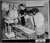 [Photograph of classroom at Camden County Training School, Saint Marys, Camden County, Georgia, 195-]