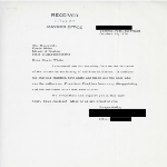 Thumbnail for Letter to Mayor Kevin H. White