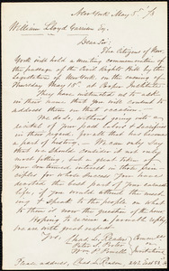 Letter from New York (N.Y.). Citizens, New York, [N.Y.], to William Lloyd Garrison, May 5. [18]73