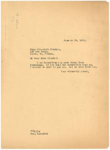 Letter from W. E. B. Du Bois to Elizabeth Prophet