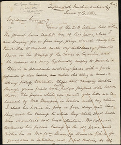 Letter from Tynemouth, Northumberland, [England], to William Lloyd Garrison, 1861 June 7th