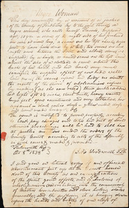 Letter from William Sargent, [Falmouth, Kentucky], to William Lloyd Garrison, [1838 October 16]