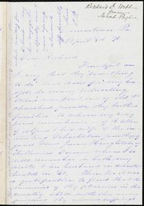 Letter from Sarah Pugh, Germantown, Pa., to Richard Davis Webb, April 8th [18]70