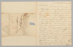 Letter to Reverend David Selden from his son David Selden