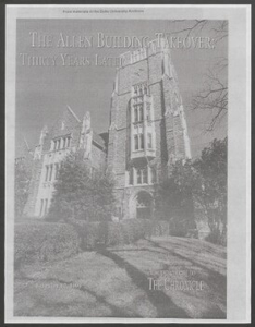 """""""The Allen Building Takeover: Thirty Years Later"""", a supplement to The Chronicle, February 12, 1999"""