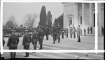[Ceremony involving a drill team, possibly R.O.T.C. : acetate film photonegative, banquet camera format.]