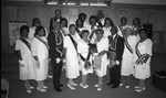 Dorothy H. Boswell posing with Eastern Star members, Los Angeles, 1992