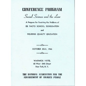 Social science and the law: A program for resolving the problems of de facto school segregation and insuring quality education