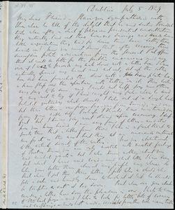 Letter from Richard Davis Webb, Dublin, [Ireland], to Anne Warren Weston, July 5, 1849