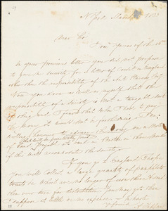 Letter from Arthur Tappan, N[ew] York, [New York], to William Lloyd Garrison, 1833 March 22