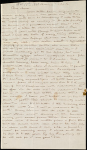 Letter from Deborah Weston, [Boston, Mass.], to Anne Warren Weston, Monday, 1 o'clock, [Nov. 17th, 1840]