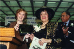 Thumbnail for County Librarian and Dorothy Donegan Hold Plaque