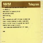 Telegram to Mayor Kevin H. White