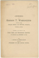 """Address of Booker T. Washington, Principal of the Tuskegee Normal and Industrial Institute, Tuskegee, Alabama, Delivered at the Opening of the Cotton States and International Exposition, at Atlanta, Ga."""