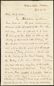 Letter from Samuel May, 21 Cornhill, Boston, [Mass.], to Miss Weston, June 17, '51