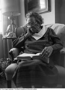 Photograph of Mable Chandler reading a book #2 Dallas/Fort Worth Black Living Legends Dallas/Fort Worth Black Living Legends, 1992