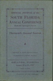 Official Journal of the South Florida Annual Conference, Methodist Episcopal Church, Thirteenth Annual Session