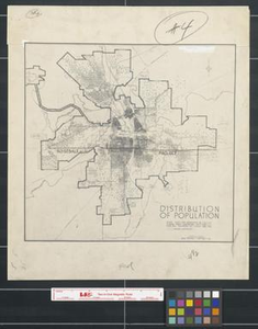Distribution of population [Fort Worth, Texas].