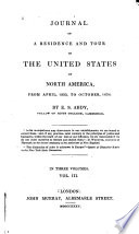 Journal of a residence and tour in the United States of North America : from April, 1833, to October, 1834