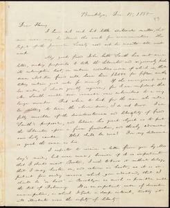 Letter from William Lloyd Garrison, Brooklyn, [Conn.], to Henry Egbert Benson, Dec. 15, 1835