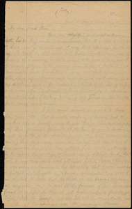 Copy of letter from William Lloyd Garrison, Paris, [France], Rue d' Anten, to Samuel May, Aug. 20, 1867