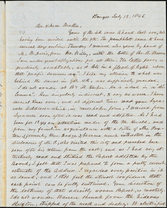Letter from Asa Walker, Bangor, [Maine], to Amos Augustus Phelps, 1846 July 12