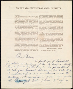 Letter from Maria Weston Chapman, [Boston, Mass.], to Deborah Weston, Friday, March 14th, 1839